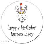 Sugar Cookie Gift Stickers - Birthday Bunny