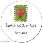 Sugar Cookie Gift Stickers - Heart Stamp