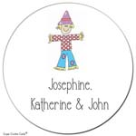 Sugar Cookie Gift Stickers - Scarecrow