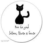Sugar Cookie Gift Stickers - Scaredy Cat