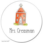 Sugar Cookie Gift Stickers - Schoolhouse