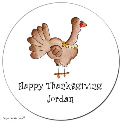 Sugar Cookie Gift Stickers - Turkey