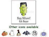 Sugar Cookie - Square Sticker (Halloween)