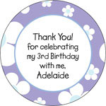 iDesign Gift Stickers - Daisies - Pastel Purple (Everyday)