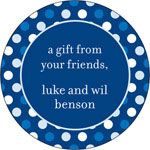 iDesign Gift Stickers - Dots - Blue (Everyday)