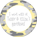 iDesign Gift Stickers - Puddles - Yellow (Everyday)