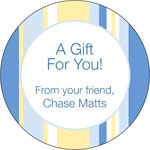 iDesign Gift Stickers - Stripes - Blue & Yellow (Everyday)