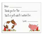 Sugar Cookie Fill-In Thank You Notes - TK-BH