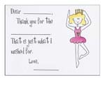 Sugar Cookie Fill-In Thank You Notes - TK-BL