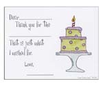 Sugar Cookie Fill-In Thank You Notes - TK-CK2