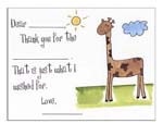 Sugar Cookie Fill-In Thank You Notes - TK-GF