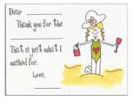 Sugar Cookie Fill-In Thank You Notes - TK-GR