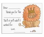 Sugar Cookie Fill-In Thank You Notes - TK-LN