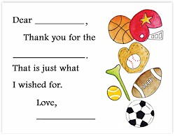 Sugar Cookie Fill-In Thank You Notes - TK-SP