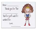 Sugar Cookie Fill-In Thank You Notes - TK-SW