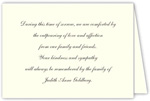 3 Bees - Small Folded Sympathy Acknowledgement Note