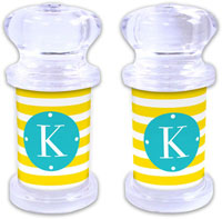Dabney Lee Personalized Salt and Pepper Shakers - Cabana