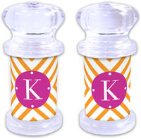 Dabney Lee Personalized Salt and Pepper Shakers - Chevron