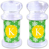 Dabney Lee Personalized Salt and Pepper Shakers - Clementine