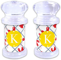 Dabney Lee Personalized Salt and Pepper Shakers - Rock Lobster