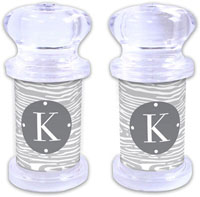 Dabney Lee Personalized Salt and Pepper Shakers - Varnish