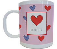 Kelly Hughes Designs - Mugs (Happy Hearts)