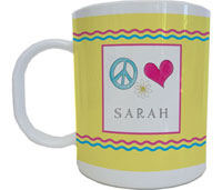 Kelly Hughes Designs - Mugs (Peace Love Eat)