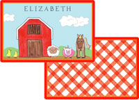 Kelly Hughes Designs - Laminated Placemats (Down On The Farm)