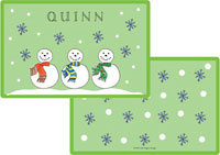 Kelly Hughes Designs - Laminated Placemats (Jolly Snowmen)