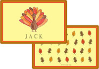 Kelly Hughes Designs - Laminated Placemats (Tom Turkey)