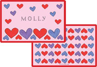 Kelly Hughes Designs - Laminated Placemats (Happy Hearts)