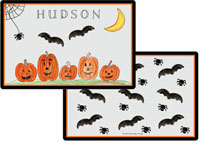 Kelly Hughes Designs - Laminated Placemats (Haunted Halloween)