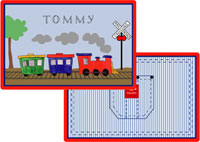 Kelly Hughes Designs - Laminated Placemats (All Aboard)