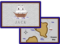 Kelly Hughes Designs - Laminated Placemats (Ahoy Matey)