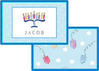 Kelly Hughes Designs - Laminated Placemats (Hanukkah)