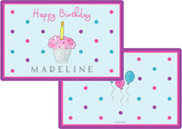 Kelly Hughes Designs - Laminated Placemats (Birthday Cupcake)