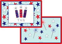 Kelly Hughes Designs - Laminated Placemats (Firecrackers)