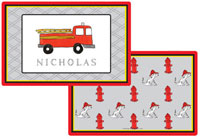 Kelly Hughes Designs - Laminated Placemats (Firetruck)
