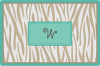 Kelly Hughes Designs - Laminated Placemats (Grey Zebra)