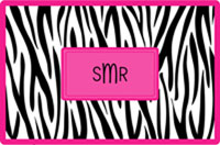 Kelly Hughes Designs - Laminated Placemats (Black Zebra)
