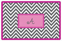 Kelly Hughes Designs - Laminated Placemats (Grey Chevron)