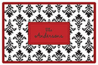 Kelly Hughes Designs - Laminated Placemats (Black Damask)