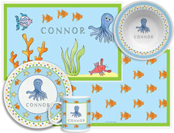 3 or 4 Piece Tabletop Sets by Kelly Hughes Designs (Under The Sea)