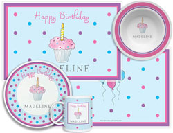 3 or 4 Piece Tabletop Sets by Kelly Hughes Designs (Birthday Cupcake)