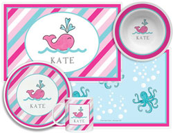 3 or 4 Piece Tabletop Sets by Kelly Hughes Designs (Preppy Whale)
