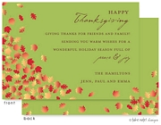 Take Note Designs - Fall/Thanksgiving Greeting Cards (Falling Leaves)