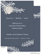 Take Note Designs - Fall/Thanksgiving Greeting Cards (Navy Pinecone and Branch)