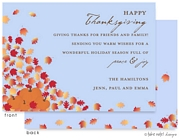 Take Note Designs - Fall/Thanksgiving Greeting Cards (Falling Leaves Pumpkins)
