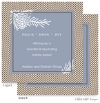 Take Note Designs - Fall/Thanksgiving Greeting Cards (Pine Cones and Tweed in Blue)