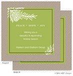 Take Note Designs - Fall/Thanksgiving Greeting Cards (Pine Cones and Tweed in Green)